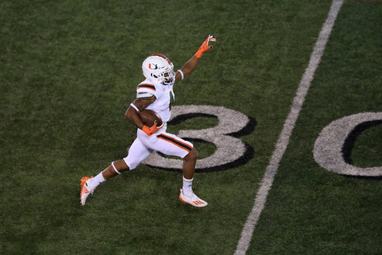 A cat nearly lost all nine lives and became the real MVP of this Miami Hurricanes game